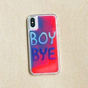 Accessories - Boy Bye! Neon Sand iPhone case